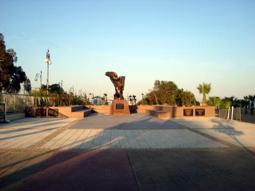 The square in front of the Armenian Genocide Memorial in Larnaca